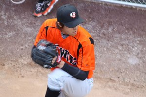 photo of pitcher warming up