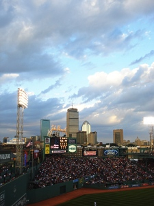 Photo of Fenway, looking over the city