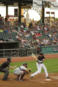 Photo of batter swinging