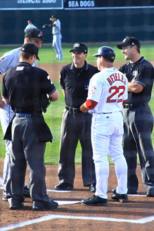 Photo of umps and managers