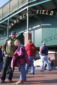 Photo in front of Hadlock Field