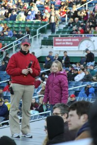 On the dugout at Hadlock Field