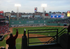 photo of Fenway Park from the upper deck